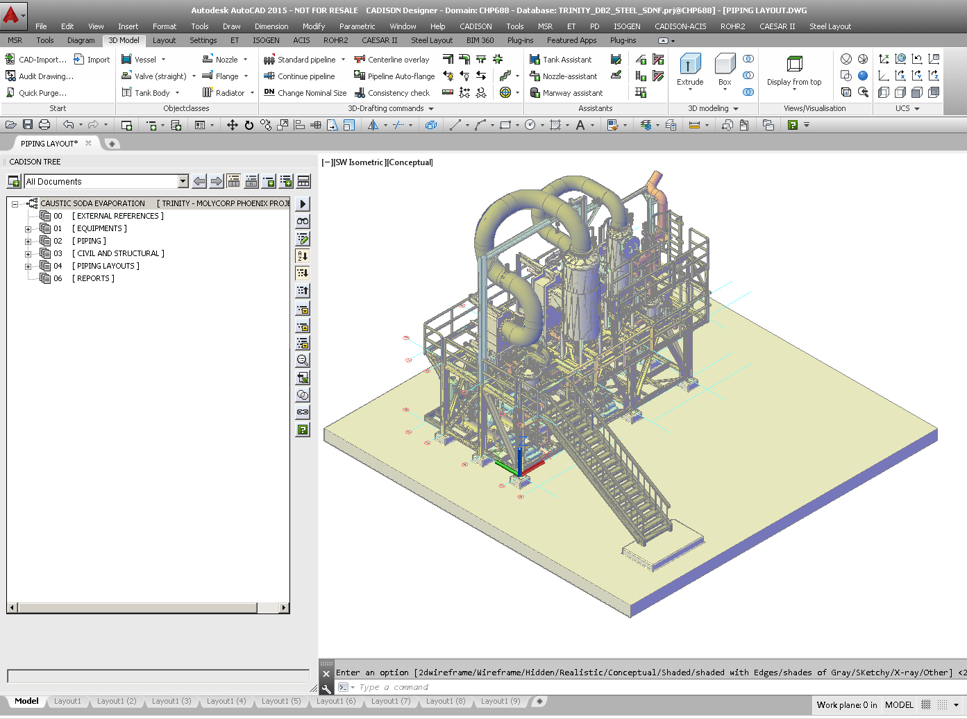 Plant equipment pipeline planning software for Space planning software