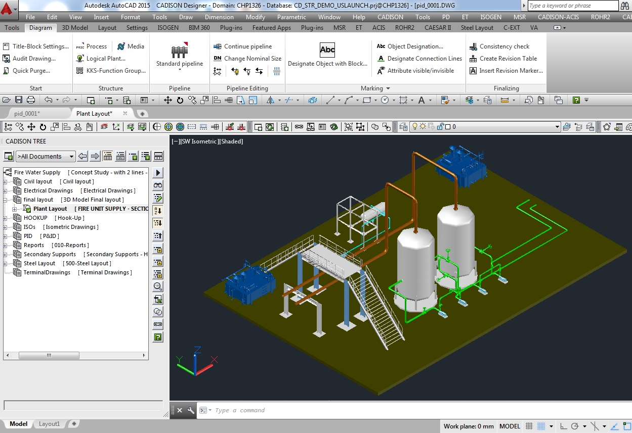 Plant Equipment Pipeline Planning Software Piping Layout Calculation Intergrated 3d