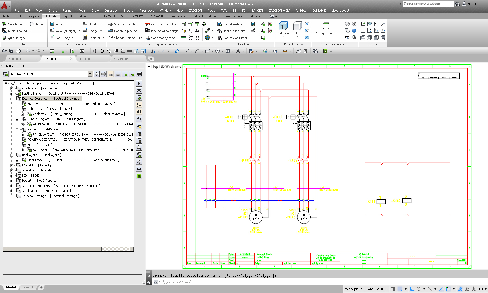 Electrical Software For Plant Engineering Electrician Diagram Intelligent Slds Circuit Diagrams With Cadison Designer