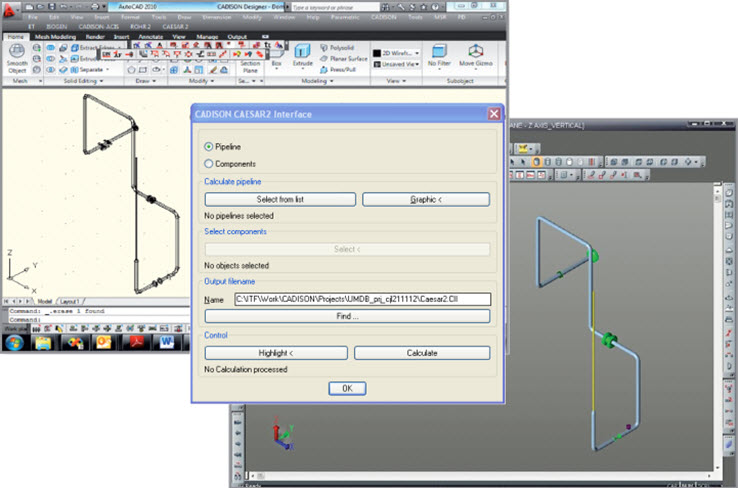 Plant Engineering Software - Piping Analysis
